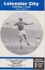 LEICESTER CITY v WEST HAM UNITED ~ 1 FEBRUARY 1970 ~ DIVISION ONE PROGRAMME