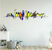 Birds On Wire Wall Sticker Vinyl Decal Kids Home Nursery Decor Art Mural Gift