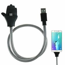 Hand Stand Flexible Dock Micro USB Cable Charger Holder Data Sync Android Phone
