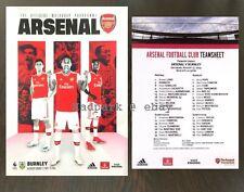 Arsenal v Burnley Premier League Programme With Team Sheet August 2019 17/08/19