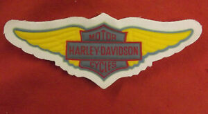 HARLEY DAVIDSON WINGS ORIGINAL PERIOD VINTAGE NOS SEW ON PATCH BADGE 70s 80s