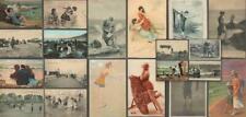 Lot x 20 Glamour Postcards - Fashionable Women, Beach Scenes - Bathing Theme RP