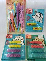 4 Packs LITTLE MISS Goody & Goody Vintage 1982 & 1984 Hair Barrettes~36 total