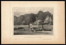 Antique Print-WESTPHALIA-STONE MILL-WESER-STEAMBOAT-GERMANY-Schucking-Mayer-1872