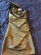 Badgley Mischka - Women's Gold Dress - Size 6 Great Condition