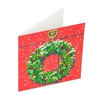 Craft Buddy Crystal Art D.I.Y Christmas Card Kit CHRISTMAS WREATH diamond paint