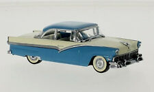 wonderful modelcar FORD FAIRLANE HT COUPE 1956 -  blue/white - scale 1/43