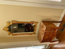 Used Mirror (Medium sized) with painted gold-colored rim. (Buyer Must Pickup)