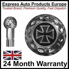 Alloy Chrome Golf Ball Gear Knob with Iron Cross Logo Seat Ibiza Toledo Leon