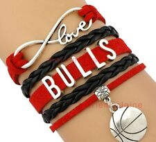 Chicago Bulls Jewelry Bracelet NBA Basketball Charm NEW