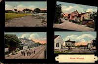 GROSS WOSSEK Velký Osek Militär Militaria-Zensur Stempel auf alter AK 1915 1. WK