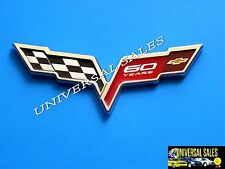 60 CORVETTE Z06 CHECKERED CROSSED 2013 FLAG EMBLEM BADGE 60 YEARS FRONT NEW