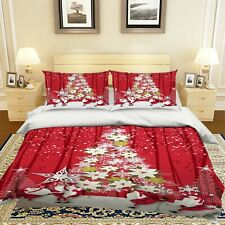 3D Red Christmas Tree Petal Kep9290 Bed Pillowcases Quilt Duvet Cover Kay