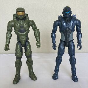 Halo 12' Figurines Master Chief & Spartan Locke Like New Adjustable 2015 Mattel