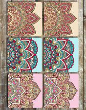 Mandala Drink Coasters Set of 6 Non Slip Neoprene Coasters Boho Gift Ideas