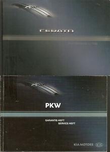Betriebsanleitung CERATO KIA MOTORS   Handbuch Ausgabe 2004 + Serviceheft