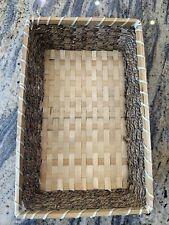 6 X Bamboo/Wicker Baskets🍇Food/Household Storage New