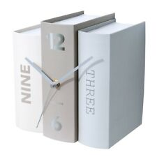 Karlsson Table Clock Book - Grey