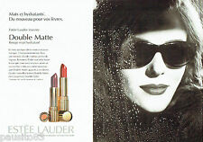 PUBLICITE ADVERTISING 046  1995  Estèe Lauder maquillage ( 2p) rouge lèvres