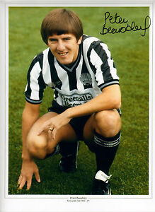 Newcastle Legend Peter Beardsley signed 16 x 12 print