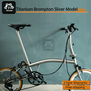 Ti Atom/titanium Brompton bike Sliver model 7Speed