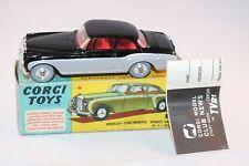 Corgi Toys 224 Bentley Continental Sports perfect mint in box & Leaflat SUPERB
