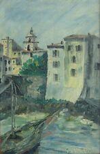 Gatien VAUDOU (1885-1959) HsP 1956 / Ecole de Paris / Port Saint Tropez Riviera