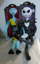 POSEABLE NIGHTMARE BEFORE CHRISTMAS PLUSH JACK & SALLY DOLLS 24""