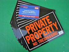 12pk 10 x 14 Metal Aluminum Private Property No Trespassing Tresspassing Sign