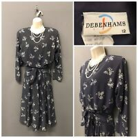 Debenhams Black Floral Dress UK 12 EUR 40 US 8