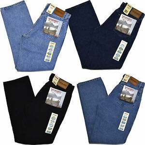Wrangler Jeans Mens Rugged Wear Classic Fit Jean Tapered Leg 39902