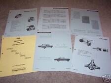 1966 CHEVROLET NOVA 55 Page ENGINEERING FEATURES MANUAL / BROCHURE, '66 CHEVY