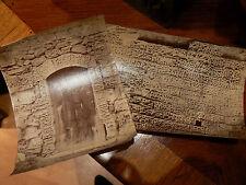 2 anciennes photos vermiculures les baux de provence 13 epoque 1900