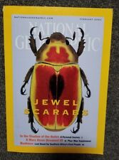 National Geographic Magazine February 2001 w/map Jewel Scarabs Andes Mars
