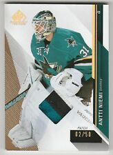 2014-15 SP Game Used Antti Niemi San Jose 3 color Patch 2/50 base card #43