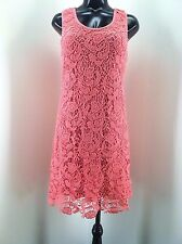 Miilla Coral Corcheted Lace Dress, Womens Size S