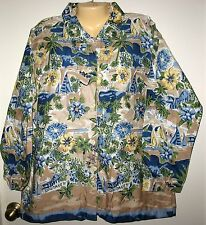 ALLYSON WHITMORE WEEKEND WOMAN 2X  COTTON BUTTON DOWNLONG SLEEVE SHIRT/JACKET