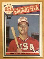 Mark McGwire Rookie 1985 Topps USA #401