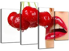 Extra Large Modern Erotic Red Canvas Wall Art Set 130cm Pictures 4049