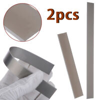 "2Pcs 4""/8"" Stainless Steel Tissue Cutter Blades for Polymer Clay Cut Portable"