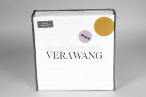 Vera Wang White Queen Sheet Set Luxury Satin Weave