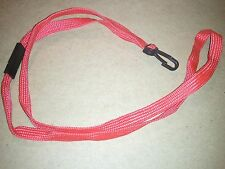 RED NECK STRAP / LANYARD with plastic hook and breakaway for CAMERA, or ID CARD