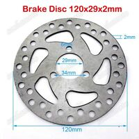 120mm 29mm Gas Scooter Brake Disc Rotor 47cc 49cc Mini Dirt Pocket Bike ATV Quad