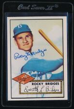 SIGNED ROCKY BRIDGES 1983 TOPPS '52 REPRINT #239 AUTO AUTOGRAPH BROOKLYN DODGERS