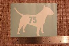 3 x bidone impennata numeri Bull Terrier inglese con numero civico Adesivo Cane