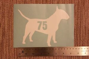 3 x Wheelie Bin Numbers English Bull Terrier with House Number Sticker Dog Puppy