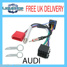 PC9-401 & PC5-90 AUDI TT 1999 - 2006 ISO & AERIAL PLUG & PLAY ADAPTOR KIT + KEYS