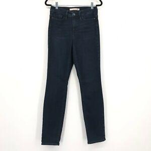 Athleta Sculptek High Rise Skinny Stretch Denim Jeans Dark Wash Women's Size 4