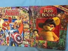 Look And Find Puss In Boots And The Mighty Avengers 2 Books Hardcover