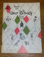 Vintage 1954 Best Of Walt Disney Song Album Music Book